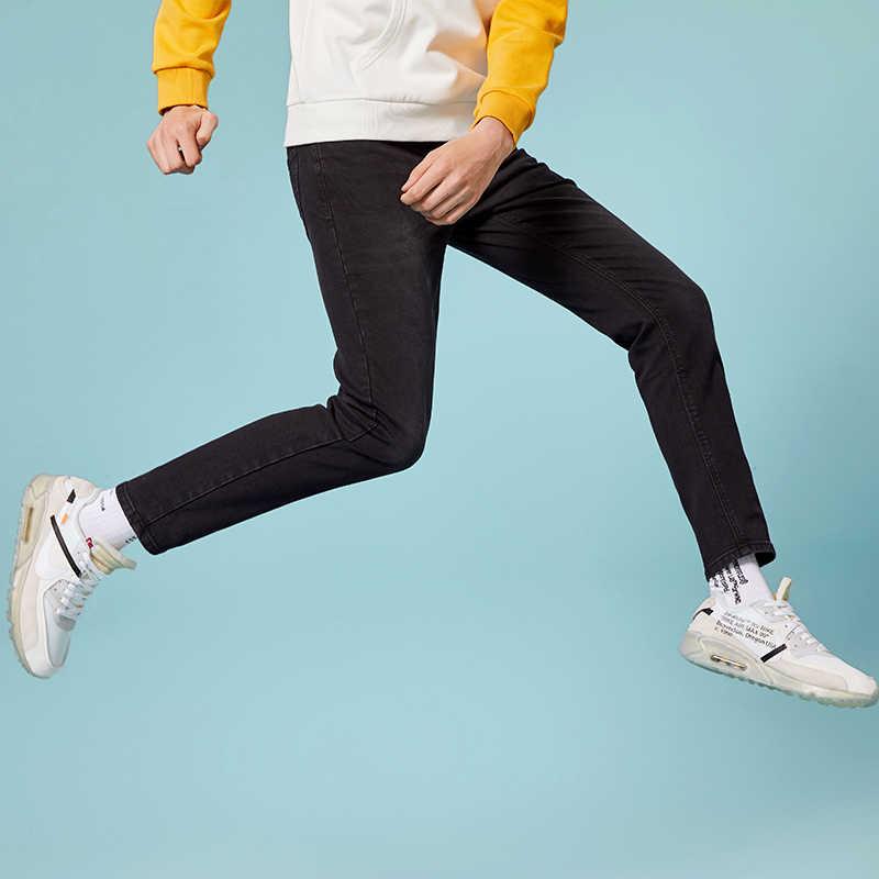 SEMIR джинсы для мужчин slim fit Брюки классические джинсы мужские джинсы дизайнерские брюки повседневные обтягивающие прямые эластичные брюки
