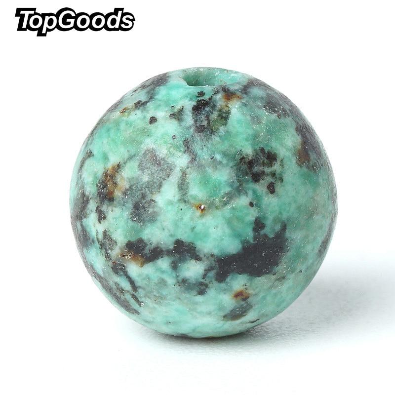 TopGoods cuentas de piedras preciosas naturales verdes turquesas - Joyas