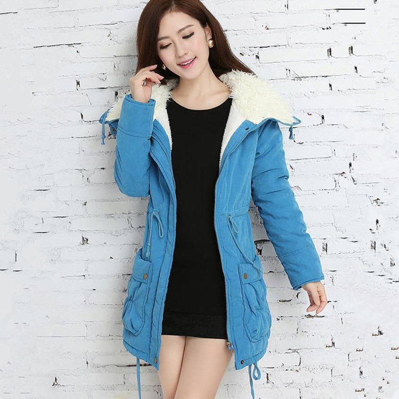 2017 Fashion Winter Coat Women Casual Cotton Outerwear Long Female Bomber Jackets Parka Mujer Casaco Feminino Inverno Clothing