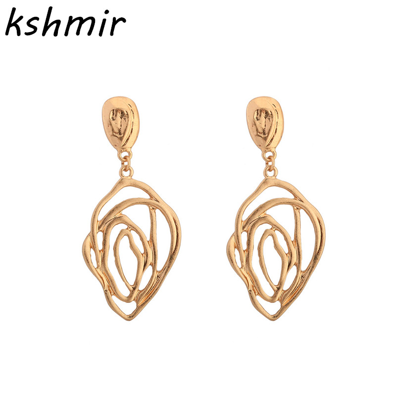 Exaggerated cobweb hollow-out petals earrings wholesale Creative girl alloy stud