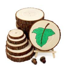 14 15 см Деревянные Ремесла срезы диски круглый вырез большой