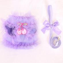 Lace Cherry Pet Dog Harness Leash Set, Pet Harness for Small Dog Pet