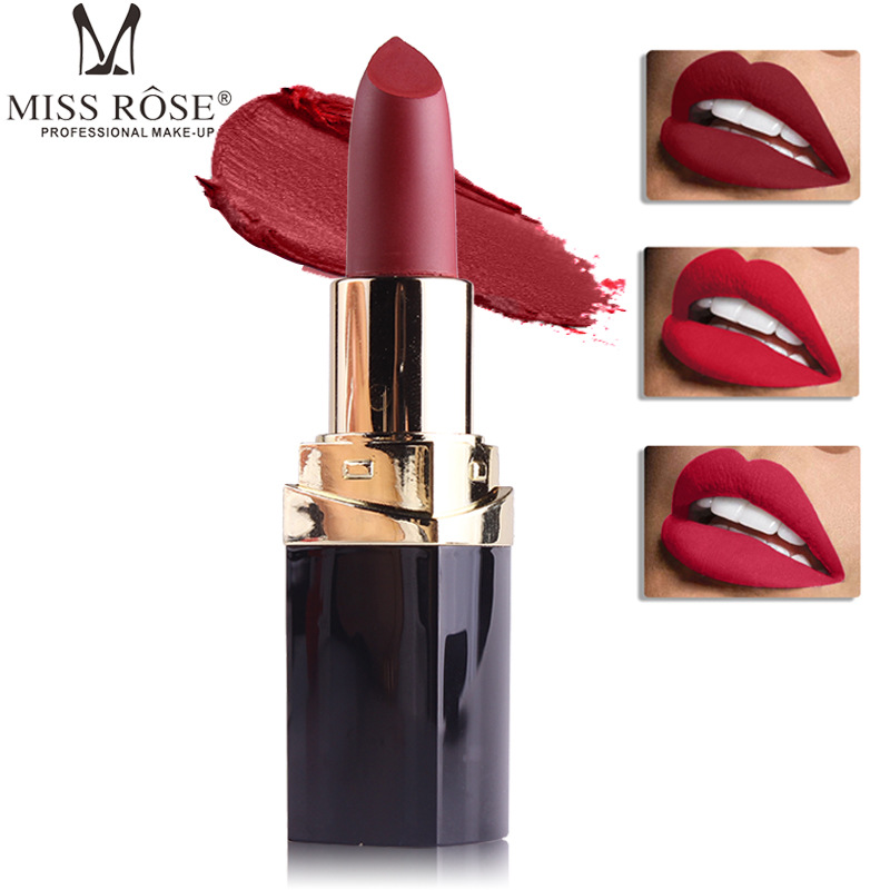 <font><b>Miss</b></font> <font><b>Rose</b></font> 42 Colors(25-36#)<font><b>Matte</b></font> <font><b>Lipstick</b></font> Makeup Red Lip Lip Stick Tint Waterproof Cosmetic <font><b>Matte</b></font> <font><b>Lipstick</b></font> <font><b>Set</b></font> image