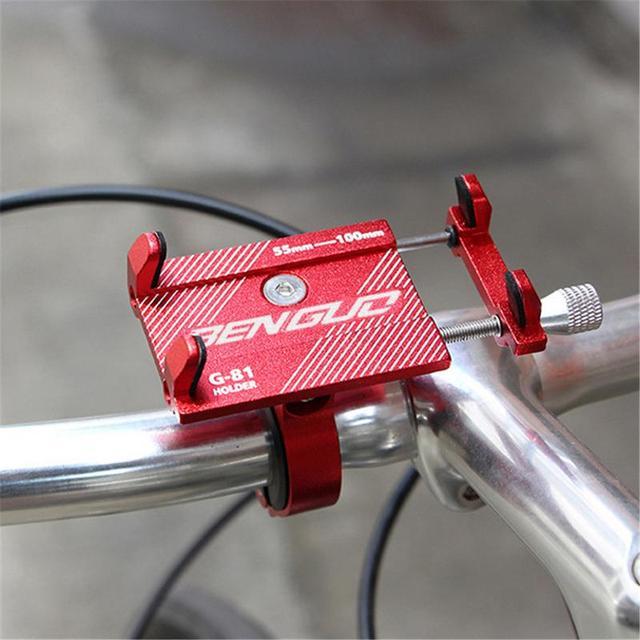 Mount Bracket Handlebar Clip Stand Bicycle Anti-Slip Adjustable Phone Holder Bike for 3.5-6.2 inch Phone Bicicleta Bicycle Tools