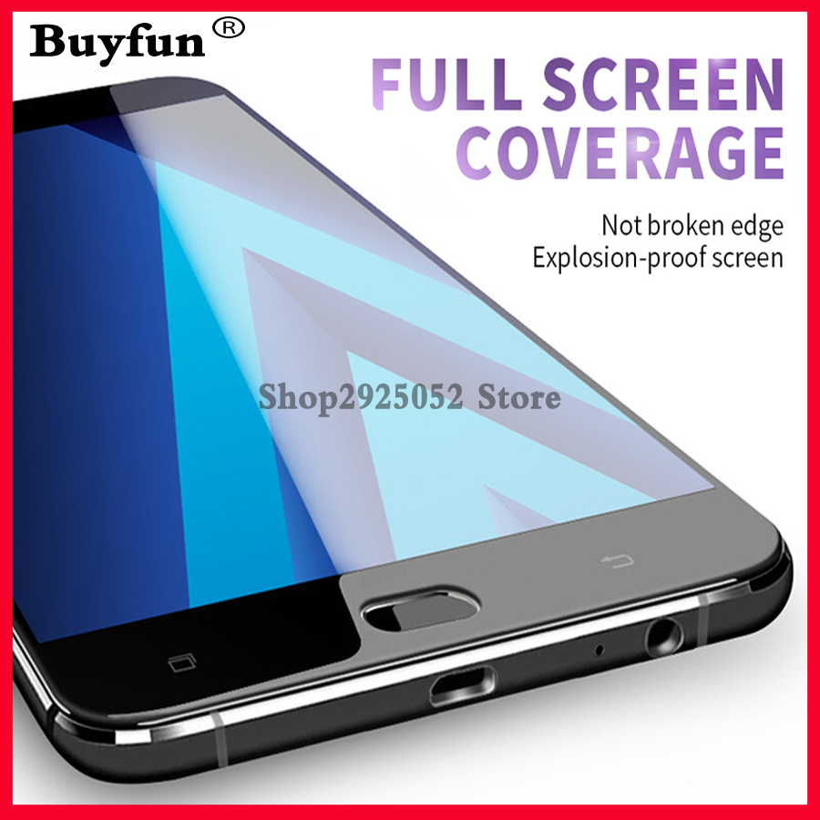Cover Tempered glass <font><b>A5</b></font> 2017 A520 on For <font><b>Samsung</b></font> <font><b>Galaxy</b></font> A 5 2017 A 520F A <font><b>520</b></font> 5.2inch Screen Protective Tremp Film Case glas 9H image