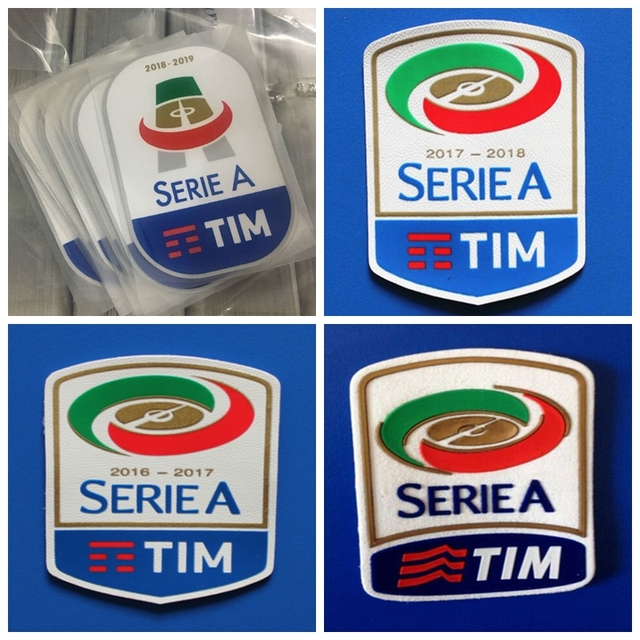 423ef7a2df Nuovo silicone di Serie A di 2016 2017 2018 2019 retro patch di Stampa  patch Distintivi