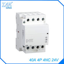 Din rail household AC contactor  40A 4P 4NC 24V Household contact module Din Rail Modular contactor original contactor delay module ladr0