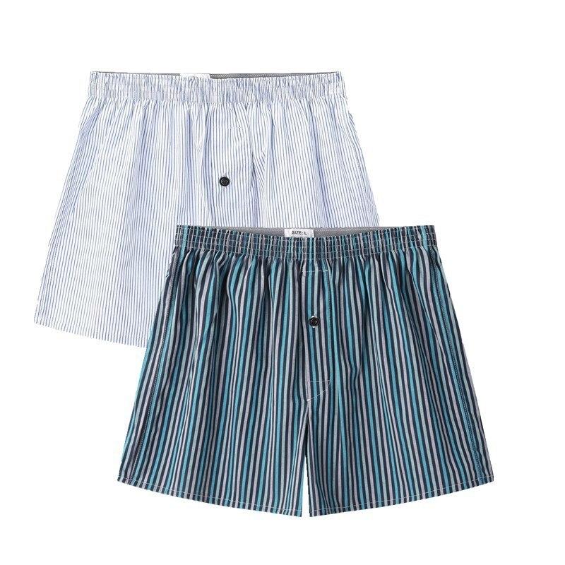 Algodão dos Homens Shorts de Dormir Novo Verão Casuais Cueca Boxers Lazer Listras Homewear Tamanho Grande Dormir Bottoms Ma50191 100%