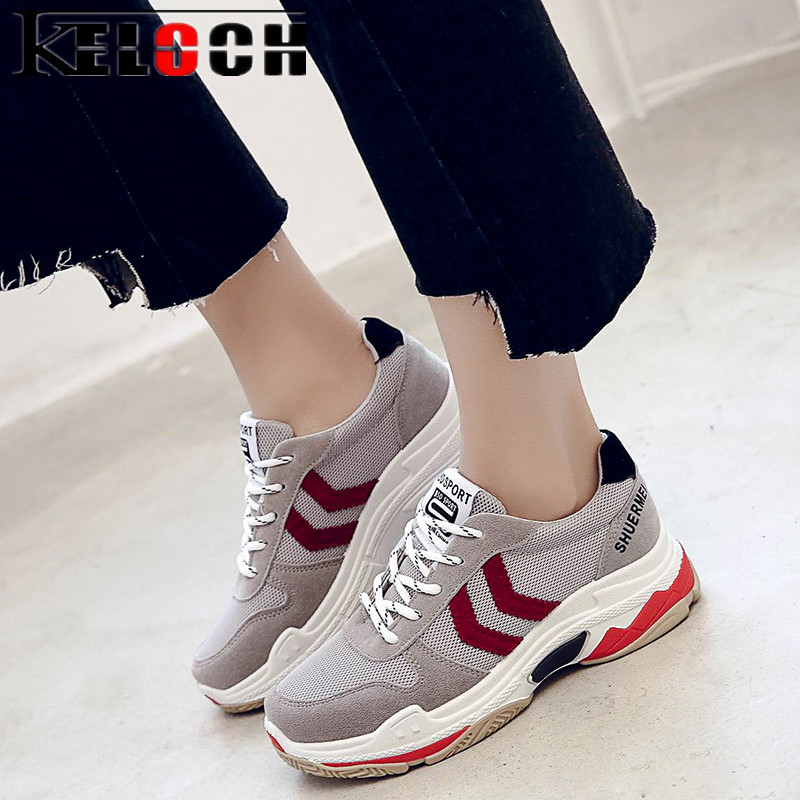 Keloch 2018 New Summer Flats Shoes Women Breathable Mesh Zapatillas Soft Ladies Casual Shoes Sneakers Women Chaussures Femme 2017 new summer zapato women breathable mesh zapatillas shoes for women network soft casual shoes wild flats casual shoes