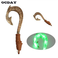 OCDAY Maui Light Up Sound Fish Hook With Motion Activated Lights Music Funny Puzzle Toys For