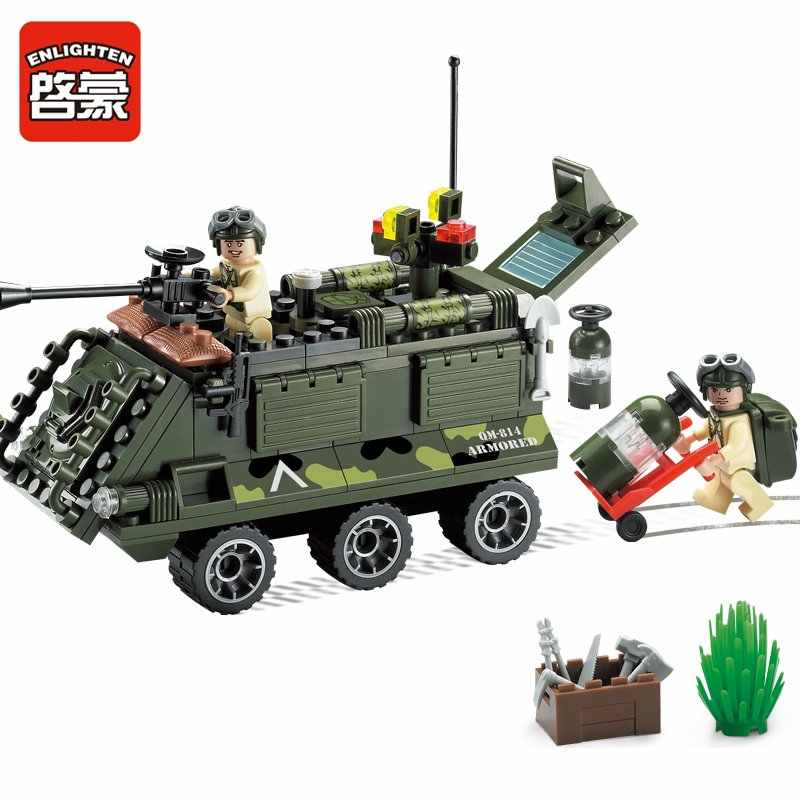 Enlighten 814 167pcs building block sets bricks blocks eductional blocks for children toys Armored car compatible with big brand