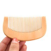 Персик дерево утолщенный изогнутый карман волосы расческа массаж антистатик мелкий зуб салон укладка инструмент парикмахерские парикмахерские щетка 1 шт.