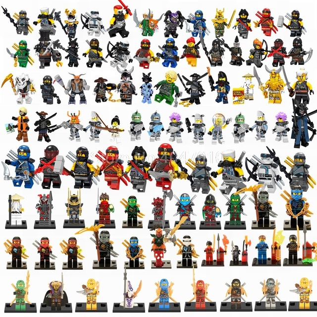 Legoing Ninjago Building Blocks Samukai Lloyd Jay Harumi Skylor Kai Zane Skullbreaker Iron Baron Legoings Figures Toys For Child