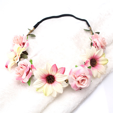 Flowers Bohemian Style Elastic Crown Hairband