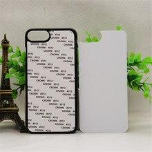 Voor Iphone SE2020 2D Sublimatie Plastic Case Back Cover Voor Iphone 5 5S 6 6S Plus 7 8 plus Aluminium Inzetstukken 10 Stks/partij