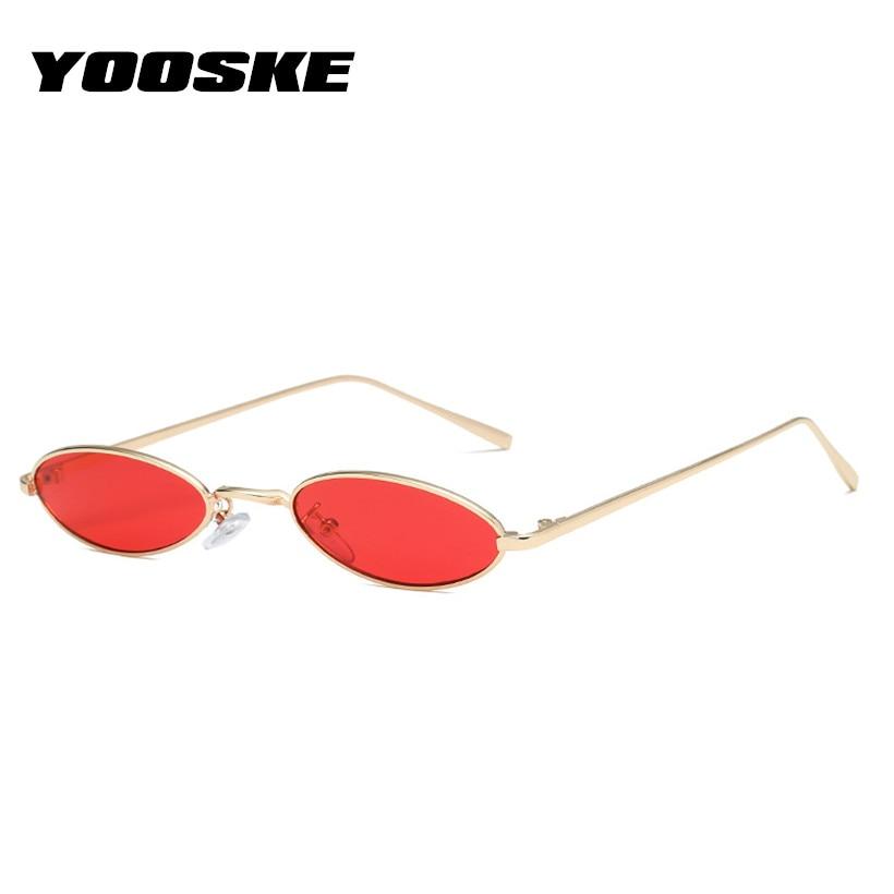 YOOSKE Metall Sonnenbrille Männer Frauen Retro Sonnenbrille Mode ...