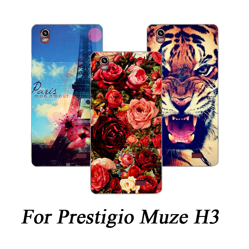 High Quality DIY Printed Phone Case Soft TPU covers Case For Prestigio Muze H3 <font><b>PSP3552</b></font> <font><b>DUO</b></font> cover For Prestigio Muze H3 Back case image