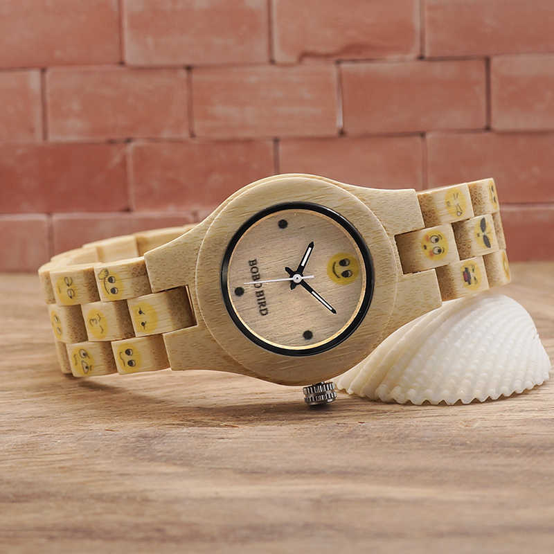 7bcaf1224e7 ... BOBO BIRD Brand 30mm Cute Women Watches Wood Wrist Watch with Bamboo  Band Female Clock Lady ...