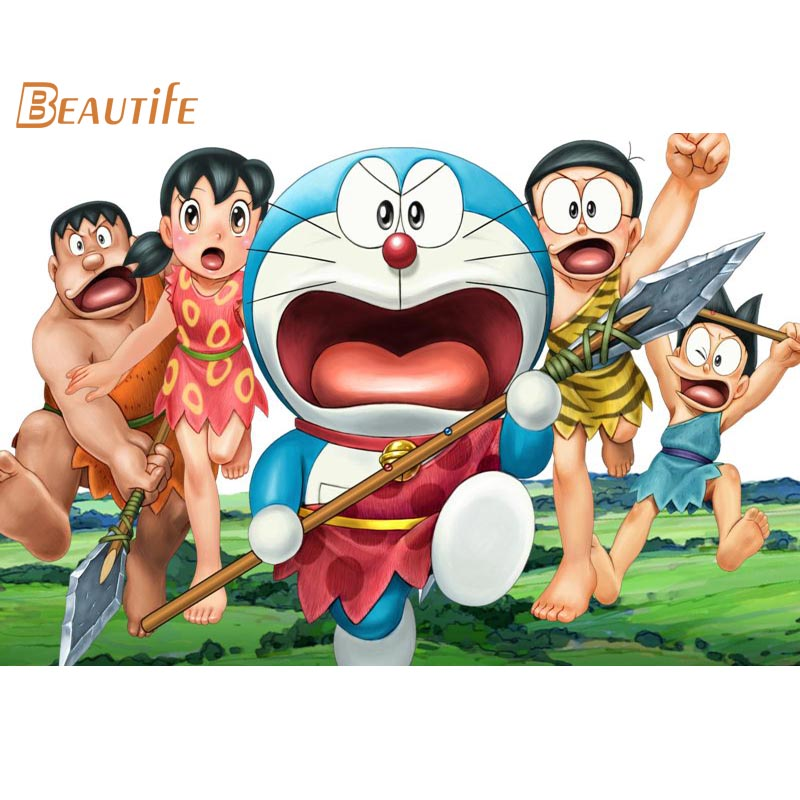 Doraemon Silk Fabric poster Home Decoration Wall Art New Cloth Silk Fabric wall poster print