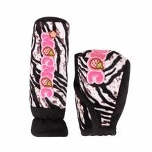 2 STÜCKE Vollen satz Zebra Muster Handbremse Abdeckung Und Gangschaltung-halsbänder Vollen Satz Für Frauen Nette Auto-Styling China Produkte