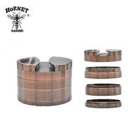 1 X Heavy Zinc Alloy Hornet Grinder Dia 80MM 4 Parts Tobacco Gridner Crusher Herb Spice