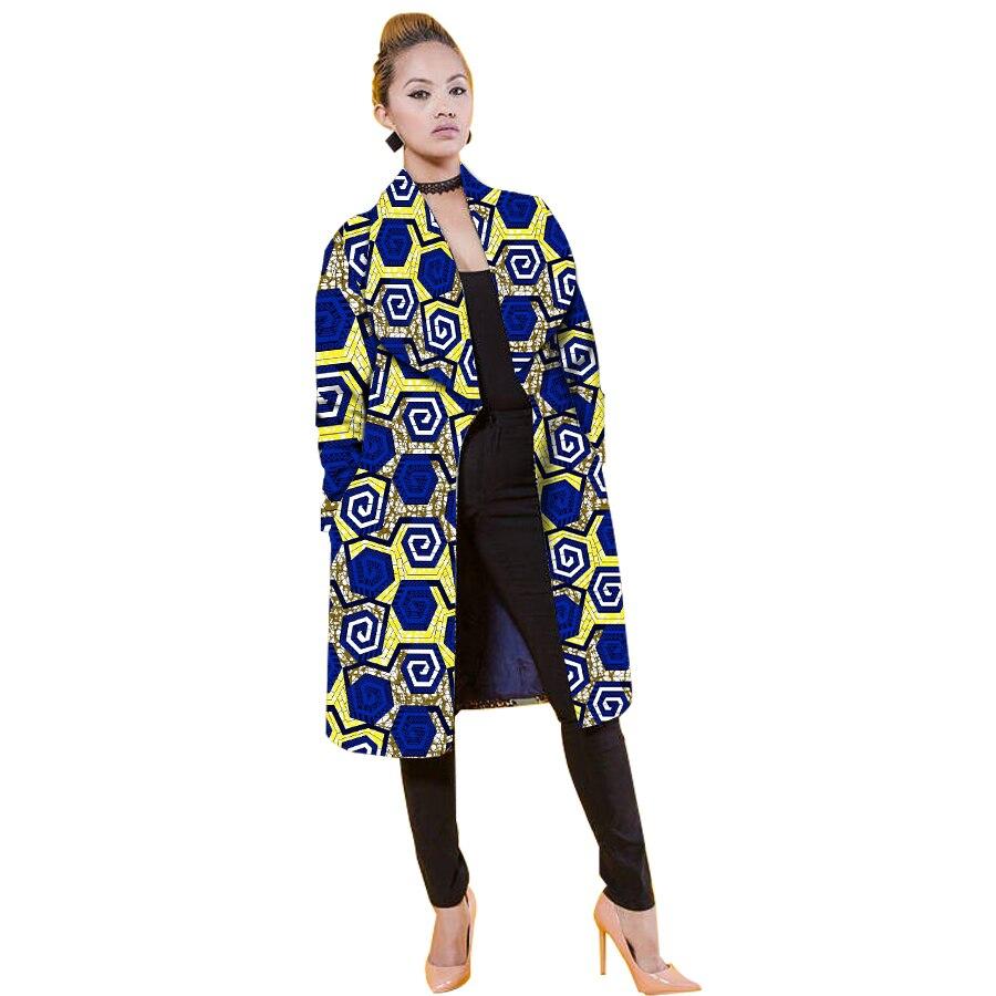 Frauen Jacke Casual Afrikanische Mäntel Graben Dame Dashiki Mäntel Batik Kostüm Weibliche Afrika Kleidung Windjacke Anpassen - 5