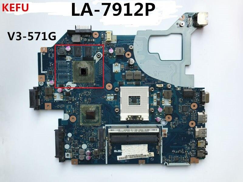KEFU For Acer V3 571G V3 571G Laptop Motherboard NBY1711001 LA 7912P DDR3 100 Tested