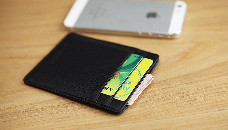 LAN 100% Leather mens credit card case slim bank card case credit Card Holder hot sale ID card holder fashion travel case