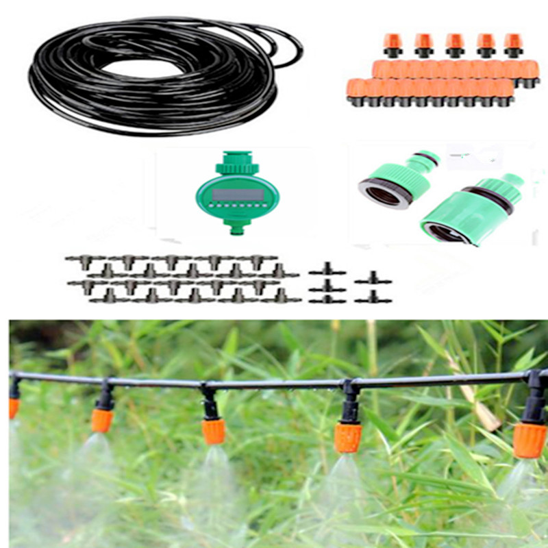 5 10 25m Automatic Micro Drip Irrigation System Garden Irrigation Spray Self Watering Kits Timer With