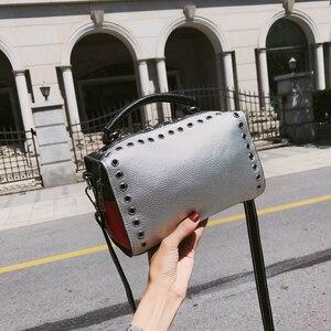 Image 1 - Summer Womens Silver Bag Handbag Luxury Brand Fashion Ladies 2019 Womens Shoulder Bag Clutch Ladies Hand Bags Female Leather