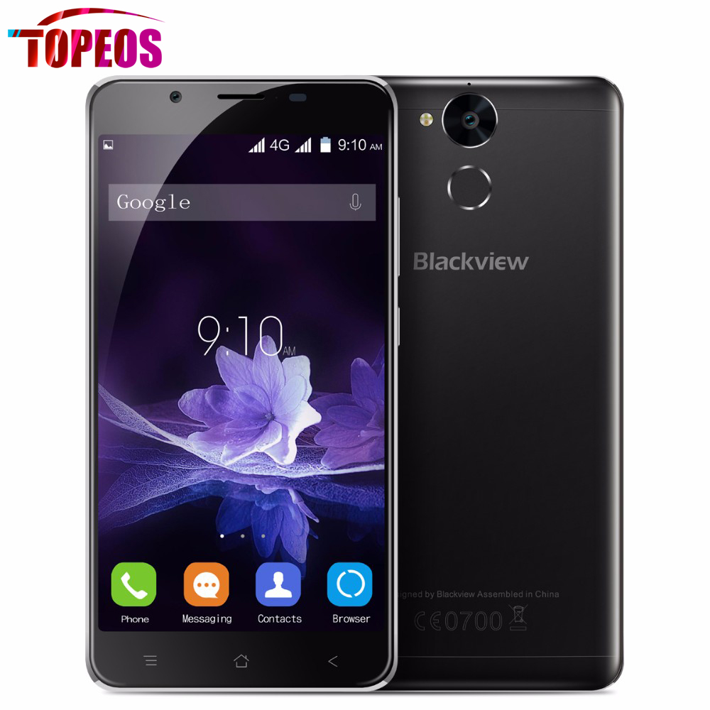 Blackview mtk6750t p2 6000 mah teléfono móvil 5.5 pulgadas octa core 1.5 ghz 4 g