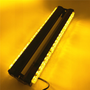 Image 2 - Dc12v 양면 6*6 led 노란색 흰색 긴 자동차 트럭 led 비상 스트로브 빛 구조 차량 램프 경찰 경고 조명