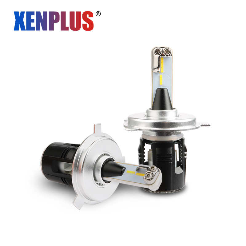 Xenplus Mini H4 hi/lo beam LED Car lights H11 H7 H3 H1 H15 H27 9006 9004 9007 D2 D4 CSP Turbo fans 7200LM 48W 12V auto headlight