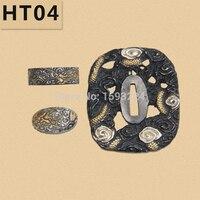 HT04 japanse Goud/verzilverd messing TSUBA battle klaar katana winkel