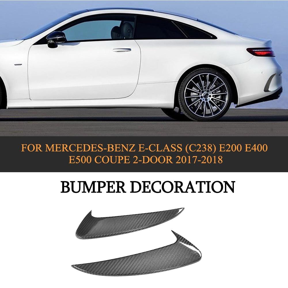 Carbon Fibre Rear Bumper Splitter Spoiler Flip Fins for Mercede Benz E Class C238 E200 E400 E500 Coupe 2 Door 2017 2018 2PCS