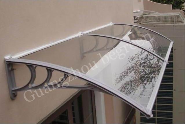 100x200 cm 39x79in YP100200-ALU suporte de alumínio jardim usado toldo da porta, estrutura metálica porta toldo dossel toldo de policarbonato