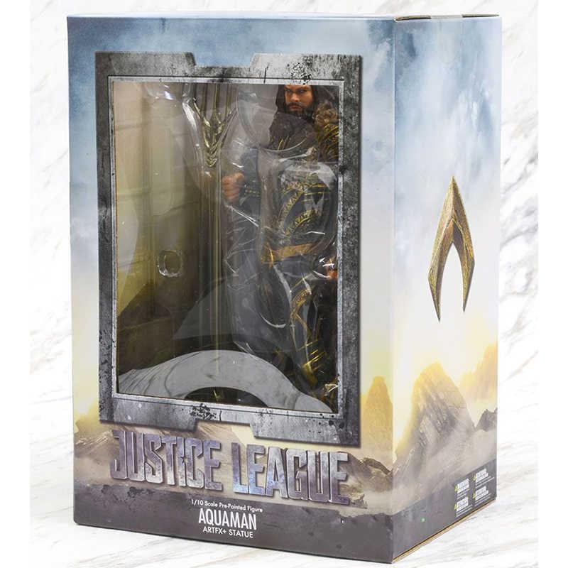 18cm 7 polegada dc liga da justiça aquaman estátua artfx pvc figuras de ação collectable modelo brinquedo para crianças presente