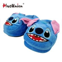 anime flock flat keep warm cartoon slippers adult indoor furry blue slipper plush mules fluffy men house women animal shoes цена и фото