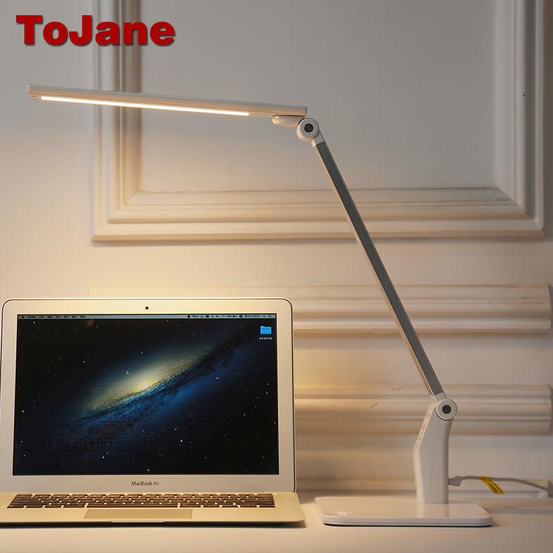 ToJane TG158 Led Lampe de Bureau USB Led Lampe de Table 5 Couleur Modes et 5 À Gradation Niveaux Lecture Lampe De Bureau Oeil Soins Bureau Lampe Led
