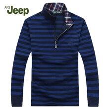 2016 Brand New AFS JEEP Men's Leisure sweater zipper long sleeve pullover men Low price knitwear mens sweaters 60
