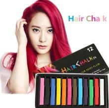 4 couleurs doux crayons cheveux dye couleur des cheveux chalk temporaire mascara salon pastels cheveux craies kit ensemble pour la coloration des cheveux - Coloration Cheveux Craie