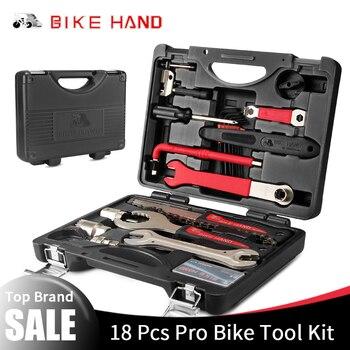BIKEHAND 18 en 1 Kit de herramientas de bicicleta Multiful juego de caja de herramientas de reparación de bicicleta portátil llave hexagonal removedor de manivela ciclismo herramientas
