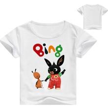 2019 Children Cartoon Bing Rabbit/Bunny Funny T shirt Baby Boys/Girls Summer Tops Short Sleeve T shirts Kids Cute Clothes все цены