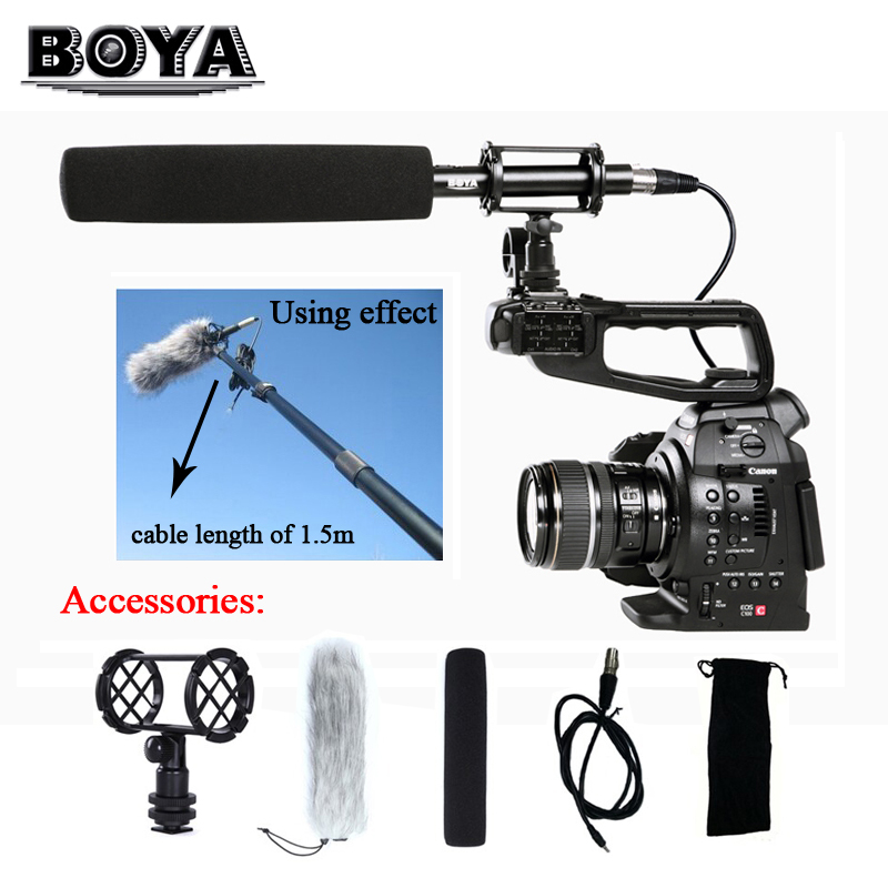 BOYA BY-PVM1000L Broadcast-quality Condenser Shotgun Microphone 3 Pin XLR Output for Canon Nikon DSLR Camcorder Video Camera girls aloud tangled up live from the o2 2008 blu ray