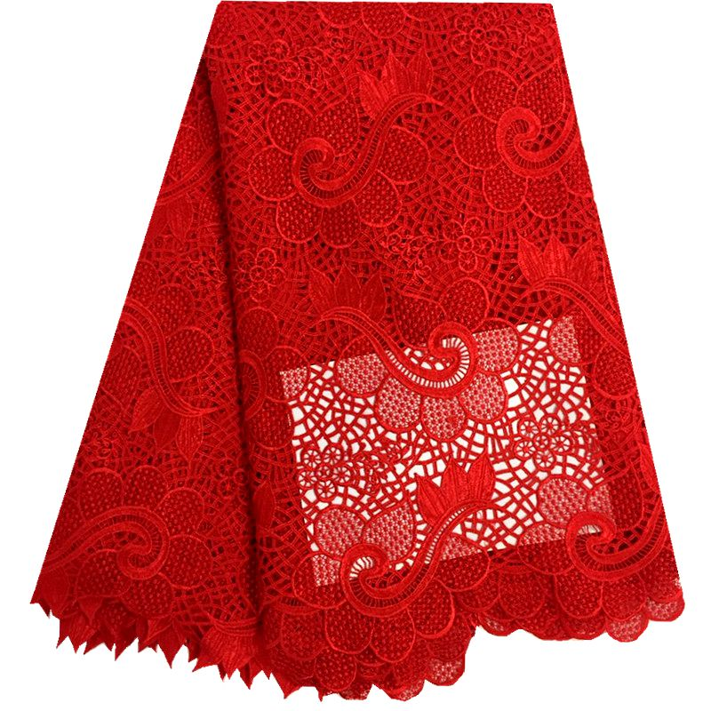 African Lace Fabric on sale High Quality african cord lace latest 2016 guipure lace fabric 5Yards