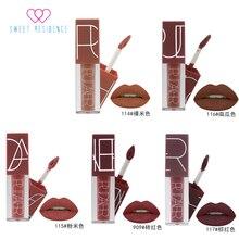 SWEET RESIDENCE 5 Colors Matte Lipstick Waterproof Nude Pintalabios Batom Rouge a levre Pumpkin Rich Vitamin E Maquillage Makeup