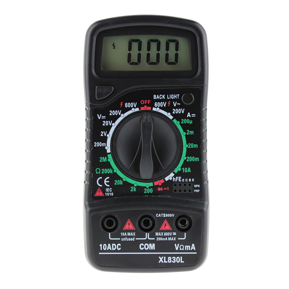Digital Multimeter Portable Multi Meter AC/DC Voltage Meter Ammeter Resistance Tester Blue Backlight with Test Leads TH4 2pcs lot digital network multi meter