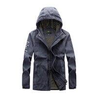 Men Retro Denim Jacket New Arrival 2017 Autumn Brand Clothes Thin Pockets Design Casual Coats Hooded