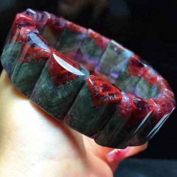Natural Top Auralite 23 Canada Crystal Bracelet Women 19x9mm Rectangle Beads Healing Reiki Stone Stretch Rarest Bracelet AAAAA