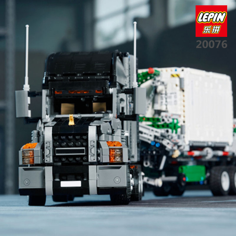 LEPIN 20076 Technic Series Genuine 2907Pcs The Mack Big Truck Set 42078 Building Blocks Bricks Educational Toys For Kids As Gift black pearl building blocks kaizi ky87010 pirates of the caribbean ship self locking bricks assembling toys 1184pcs set gift